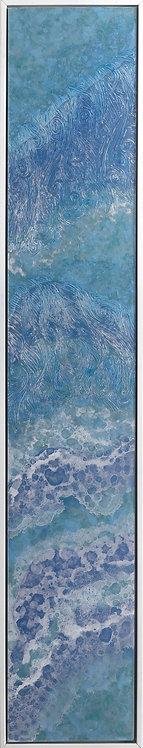 Coastal Aerial #31 -9x48 framed