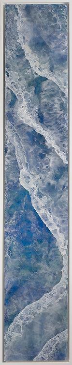 Coastal Aerial #37 -9x48 framed