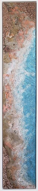 Coastal Aerial #1 -9x48 framed