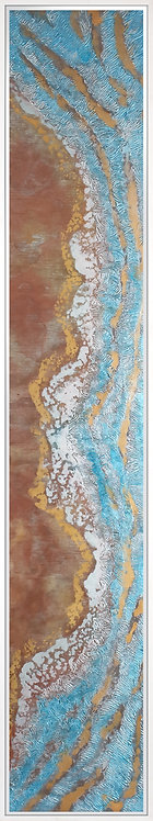 Coastal Aerial #10 -9x47 framed