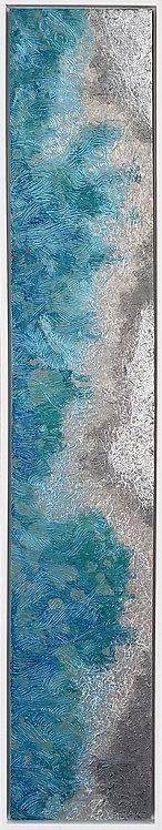 Coastal Aerial #3 -9x47 framed
