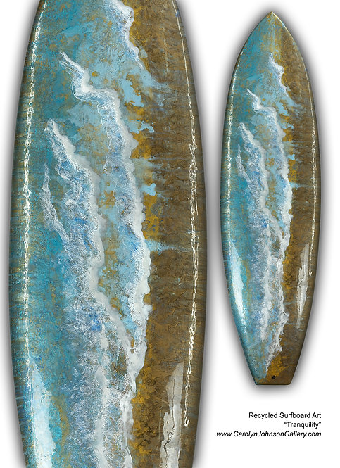 """Recycled Surfboard        """"Tranquility"""""""