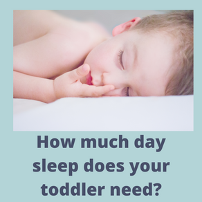 How much day sleep does your toddler need?