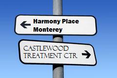 hamony place/castwoo direction sign