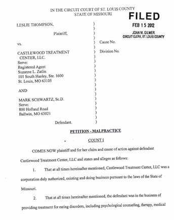 Castlewood Lawsuit #2 - Leslie Thompson
