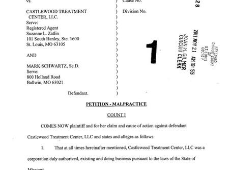Castlewood Treatment Center Lawsuit #1 - Lisa Nasseff