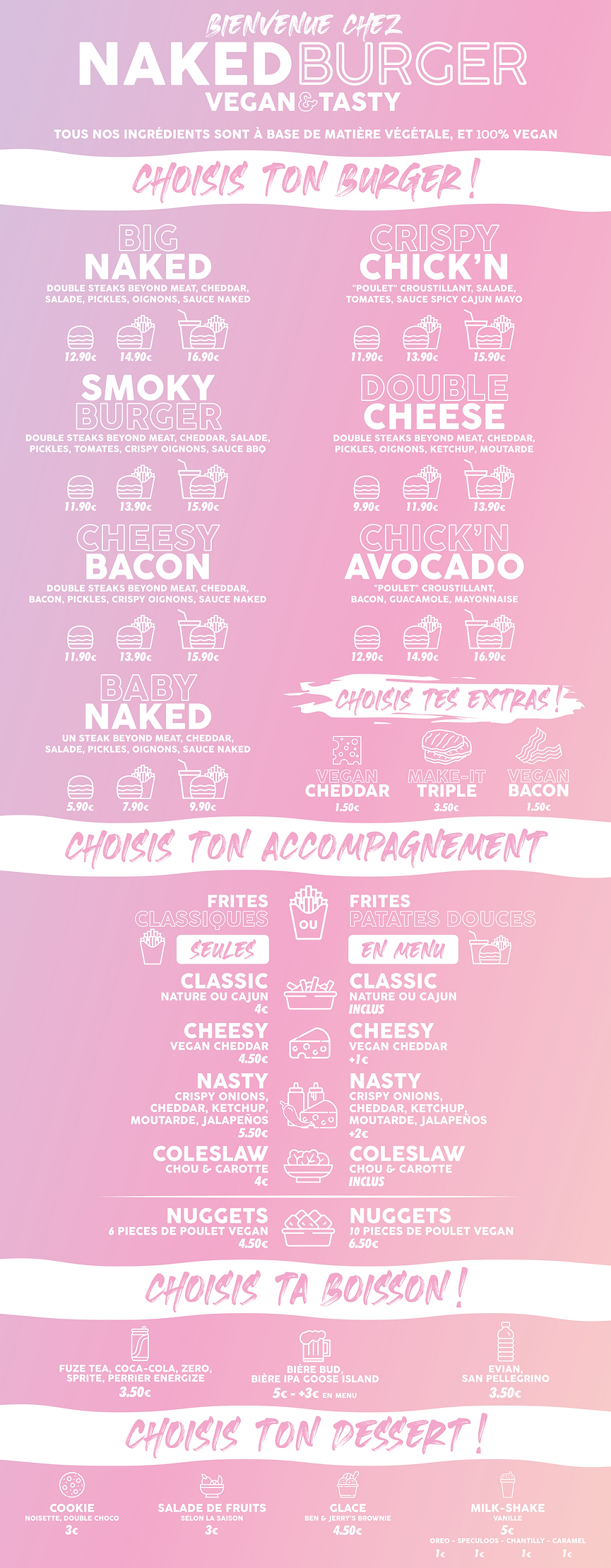 menu Naked Burger