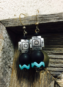 Southwestern Matte Black & Turquoise
