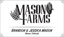Mason Farms Logo & Sign