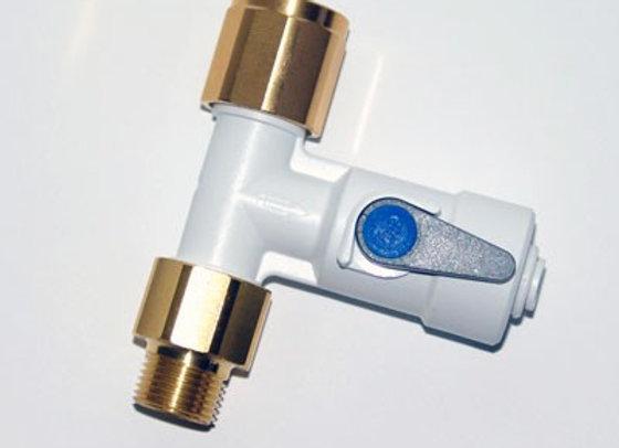 Te 3/8 avec valve d'arrêt