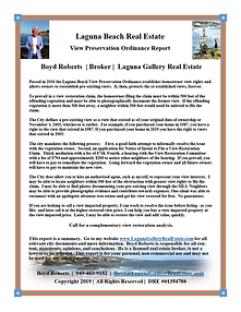 Laguna Beach View Ordinance Special Report