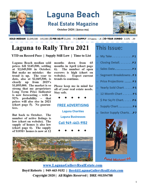 October 2020 Laguna Beach Real Estate Magazine Edition 64