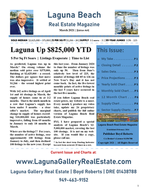 March 2021 Laguna Beach Real Estate Magazine
