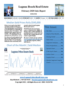 February 2020 Laguna Beach Real Estate Sales Report Edition 56