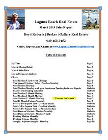 March 2019 Laguna Beach Real Estate Sales Report