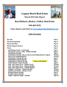 March 2019 Laguna Beach Real Estate Sales Report