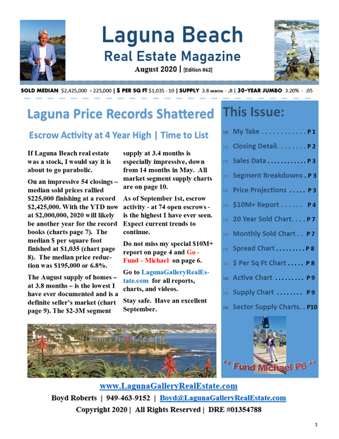 Laguna Beach Real Estate Magazine August 2020