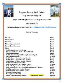 Laguna Beach Real Estate Sales Report - May 2019
