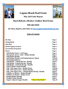 Laguna Beach Real Estate Sales Report - May 2019