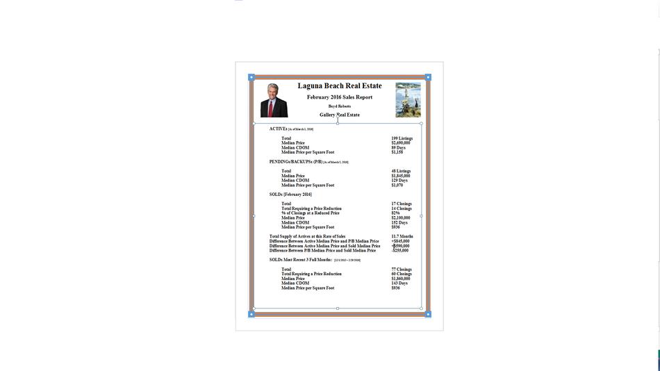 Laguna Beach Real Estate February 2016 Sales Report (GIF)