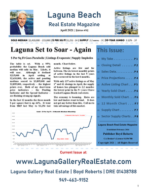 April 2021 Laguna Beach Real Estate Magazine