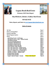 Laguna Beach Real Estate Sales Report - February 2019