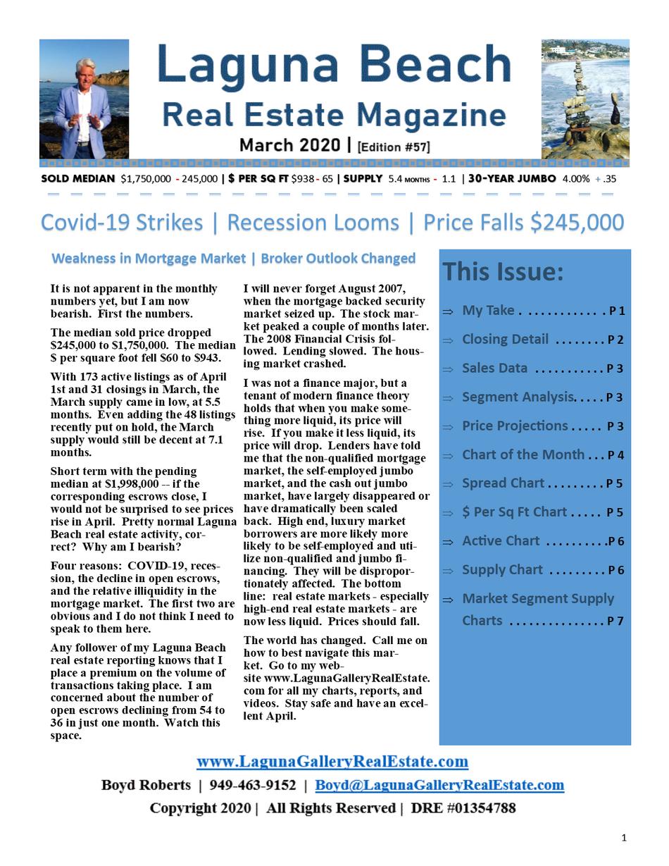 Laguna Beach Real Estate Report March 2020 Sales Report   Edition 57
