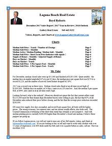 Laguna Beach Real Estate Sales Report December 2017