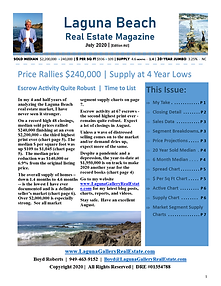 July 2020 Laguna Beach Real Estate Sales