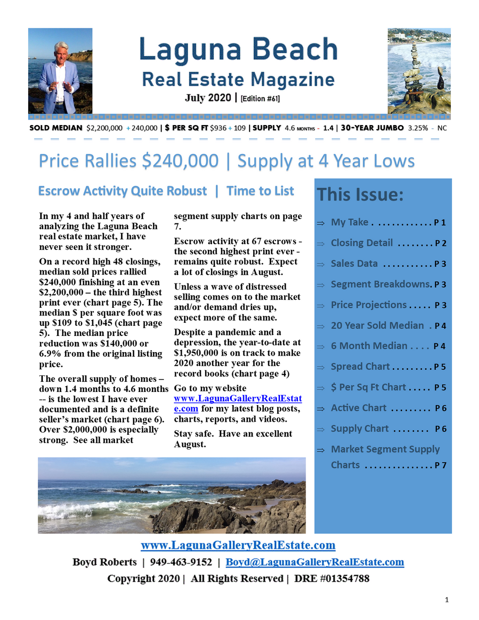 Laguna Beach Real Estate Magazine | July 2020 | [Edition #61]
