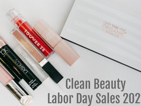 Clean Beauty Labor Day Sales 2020