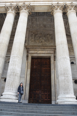 Front doors of St. Paul's Cathedral