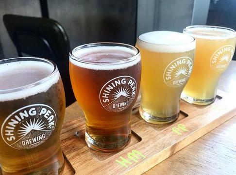 T & T Shining peak beers lined up.jpg