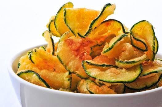 a bowl of zucchini chips