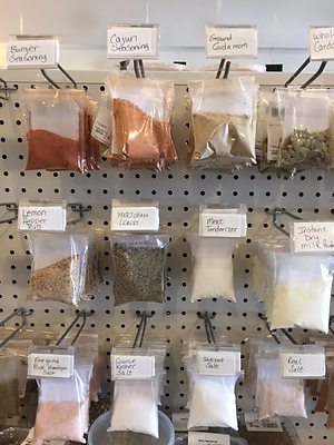 bagged products on shelves