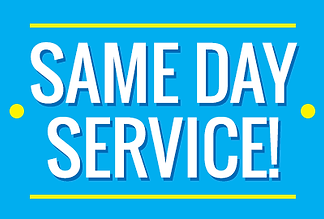 We provide same day service on most repairs.