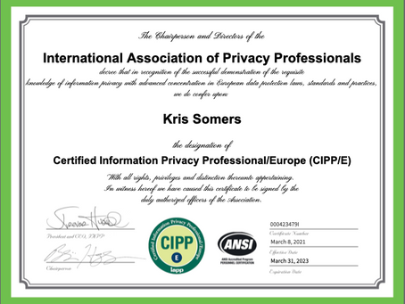 JurisCom founder certifies as privacy professional