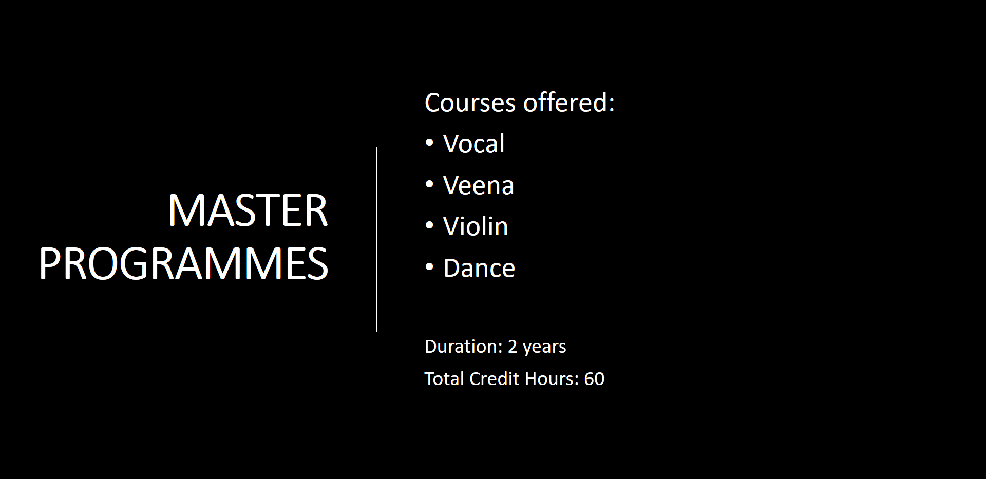 Master Programmes