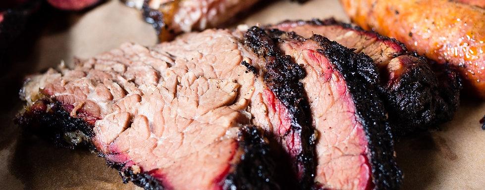 Slow smoke sliced beef brisket bbq south