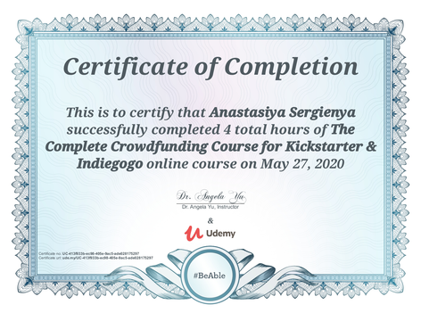 Crowdfunding Course for Kickstarter and Indiegogo