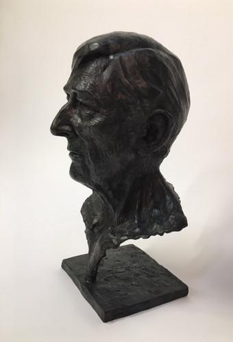 «Portrair sculpté de Tomi Ungerer en Bronze ciselé et patiné » 31x48x27cm Susse Fondeur 2019