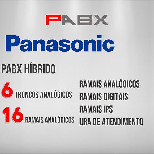 16 Ramais Analógicos / 6 Troncos Analógicos - PABX Panasonic