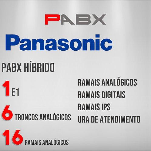 16 Ramais Analógicos / 6 Troncos Analógicos / 1 E1 - PABX Panasonic