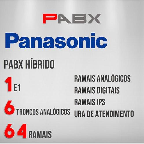 64 Ramais Analógicos / 6 Troncos Analógicos / 1 E1 - PABX Panasonic