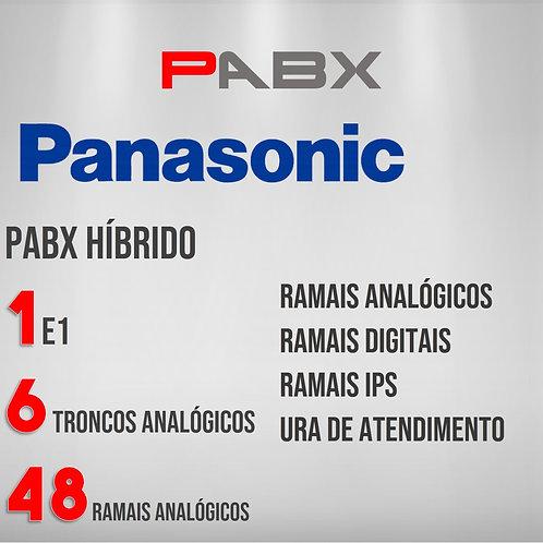 48 Ramais Analógicos / 6 Troncos Analógicos / 1 E1 - PABX Panasonic