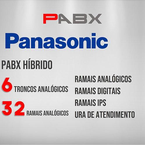 32 Ramais Analógicos / 6 Troncos Analógicos - PABX Panasonic