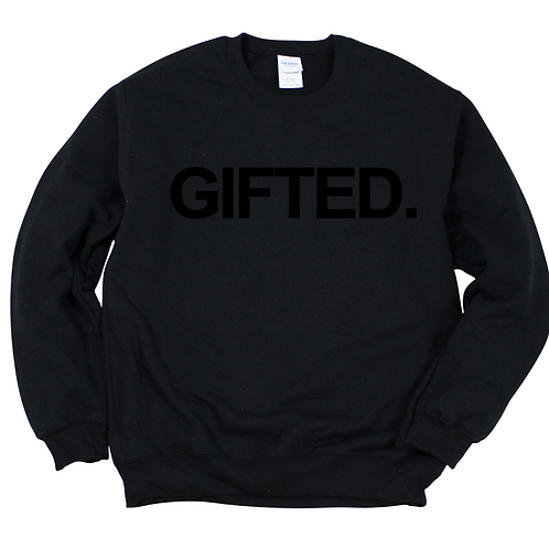 GIFTED. SWEATSHIRT (BLACK)