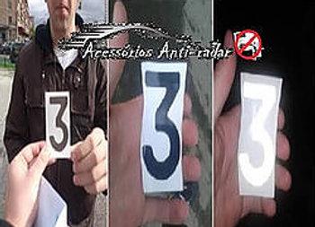 01 Adesivo Anti-Radar Preto