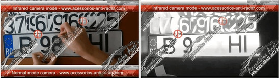 ANTI RADAR STICKERS EURO NUMBERPLATE0008