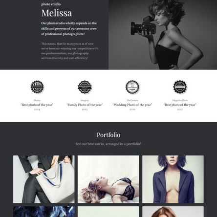Melissa - Photography Multipurpose Creative Elementor WordPress Theme